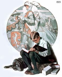 Norman Rockwell    This was my husband in his youth and became MY Knight in Shining Armor! <3