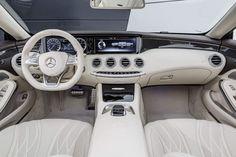 The new Mercedes-Benz S 65 AMG Cabrio, interieur: Leder porzellan #merecedes #cabrio #sclass #mbhess