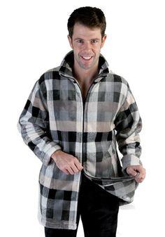 Parka Homewear, Pettrus Man. Parka de tejido térmico, fibra de alta calidad, gordita, super-suave y cálido. RopaInteriorMasculina #parkas #regalos www.varelaintimo.com