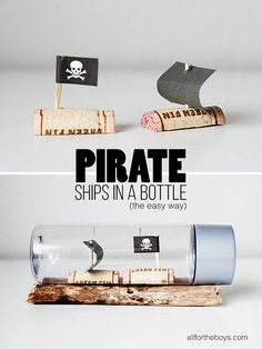 Pirate Ships in a Bottle (the easy way)