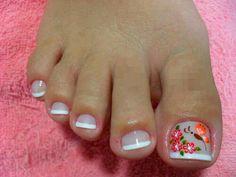 Shop nail care products at Sephora. Find an unrivaled selection of nail supplies including nail polish, nail polish remover, manicure & pedicure tools. Pretty Toe Nails, Cute Toe Nails, Fancy Nails, Love Nails, My Nails, French Pedicure, Pedicure Nail Art, Toe Nail Art, Pedicure Designs