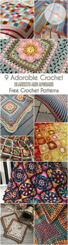9 Adorable Crochet Blankets and Afghans [Free Crochet Patterns] #crochet #yarn #blanket #afghan #homedecor #lovecrochet #freepattern
