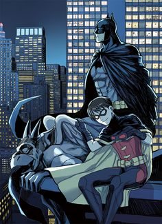 Batman & Robin. Bruce Wayne & Dick Grayson.