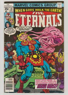 644 best Marvel Comic Books   TeamVintageUSA images on Pinterest Eternals  Vol 1  18  Bronze Age Comic Books  FN VF