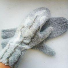 Варежки, митенки, перчатки ручной работы. Ярмарка Мастеров - ручная работа. Купить Валяные варежки. Handmade. Черный, варежки