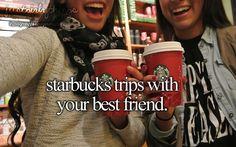 Too bad my best friend doesn't like Starbucks. Just girly things Best Friend Bucket List, My Best Friend, Girly Girl, My Girl, Lauren Kate, Justgirlythings, Girly Quotes, Quotes Quotes, Reasons To Smile