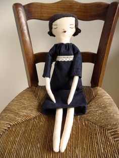 Handmade cotton rag doll  RESERVED FOR bunnylove2780 by GaiaetZoe