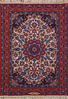 "Buy Esfahan Persian Rug 2' 4"" x 3' 2"", Authentic Esfahan Handmade Rug"