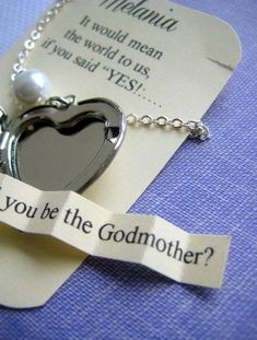 Ask Godmother locket necklace secret announcement. by buysomelove