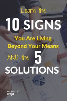 Are you living beyond your means? - Finance tips, saving money, budgeting planner Financial Success, Financial News, Financial Planning, Living Below Your Means, 1 Live, Managing Your Money, Budget Planner, You Meant, Student Loans