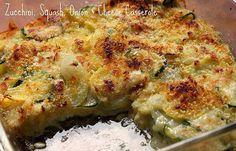 Zucchini, squash, onion, cheese casserole