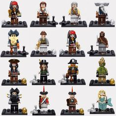 Pirates Of The Caribbean Captain Jack Sparrow Elizabeth Mermaid Minifigures Black Pearl Blocks Models & Building Toys AIBOULLY