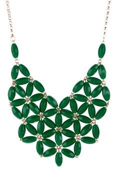 Green Resin Statement Necklace by Be Bright: Jewelry Shop on @HauteLook