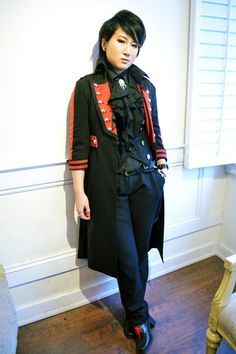 rundown: vest/belt/pants: alice and the pirates blouse: moitie socks: ozone rest: offbrand