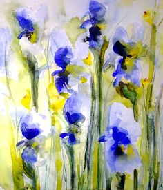 Irises III by Karin Johannesson