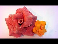 Tutorial: Flores de goma eva (foami). - YouTube