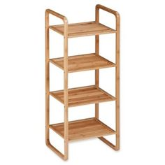The Honey-Can-Do 4-Tier Bamboo Shelf Unit offers stylish and convenient storage utility for your home, office or dorm room. Multi-tier design provides ample space for holding and organizing clothing, linens, shoes and more. Easy to assemble.