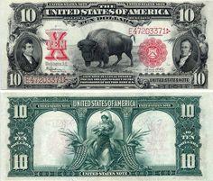 EEUU - 10 Dolares 1901 Rare Banknote