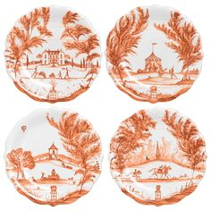 Juliska Country Estate Party Plate Set/4 Autumnal Traditions Pumkin