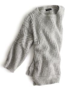 J.Crew textured stitch sweater. GOD i miss living in sweaters