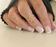 Above Knuckle Ring Set of 3 Knuckle Rings Midi Stacking Dainty Rings Gold or Silver Tone