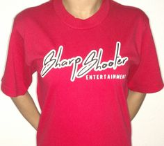 Sharp Shooter Entertainment / @M1zZHAZE Red & Black T-Shirts – Available in sizes S M L XL XXL