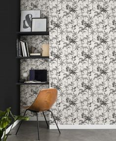 What makes the Sansa Collection so special? Well everything. Touches of botanical and tropical flora, bits of modern geometric brilliance and even a little animal wildlife to finish it off. New Wallpaper, Wall Design, House Design, Wallpaper Suppliers, Jungle Tree, Black And White Wallpaper, Black White, Interior Styling
