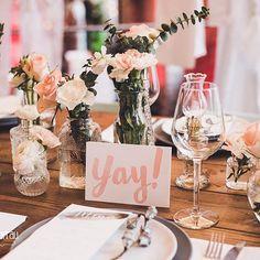 Tischdekoration / wedding table