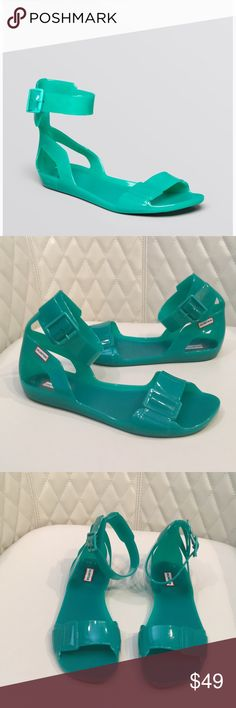 Hunter jelly sandal original Hunter open toe jelly sandal original. Green. Size UK 6. Minimal wear. Great condition Hunter Shoes Sandals