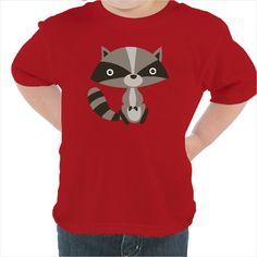 Camiseta para niños Mapache Divertido