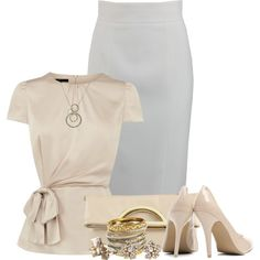 Peplum for business, created by wendyfer on Polyvore