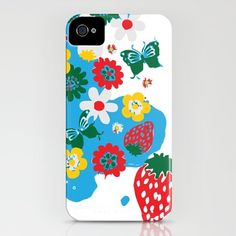 strawberry fields  by Naebyrd    IPHONE CASE / IPHONE (4S, 4)  $35.00