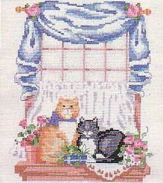 Cats - Counted Cross Stitch
