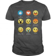 I love Connecticut Emoji Emoticon Graphic Tee T Shirt