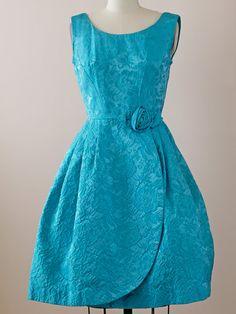 1950s Blue Party Dress