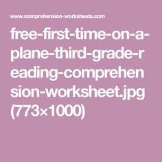 Reading Comprehension Test, Third Grade Reading, Planer, First Time, Free