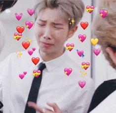 Read 10 from the story Memes De BTS Para Responder! Namjoon, Jhope, Taehyung, Seokjin, Yoonmin, Crying Meme Face, Bts Cry, Happy End, Heart Meme