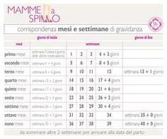 Calendario Gestazionale Settimane.Gravidanza