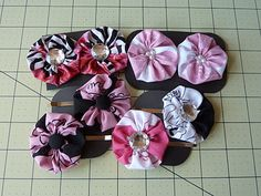 Oh yah I made a lot of these YoYo hair clips and sent them for my sisters. I got the YoYo kit (before I found the tutorial) from Daisy Kingdom at HobbyLobby. But you can find this kit also online at www.springcreative.com & Amazon.com
