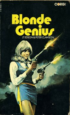 """Blonde Genius"" | Vintage Pulp Fiction--this is hilarious......."