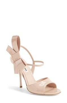Miu Miu Bow Leather Sandal (Women) available at #Nordstrom