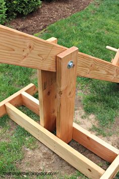 A DIY tutorial to build a big kids see saw. Make your own backyard see saw for big kids using my modifications of Ana White's free plans.