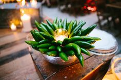 Hosting a late-night Cinco de Mayo party? Spice things up with this Jalepeno Pepper centerpiece!