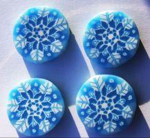 polymerclayfimo: Урок - романтичные снежинки