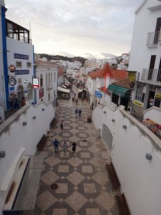 Beach town Albufeira, Portugal i love this walkway. spent many an evening strolling on it. Algarve, Visit Portugal, Spain And Portugal, Albufeira Portugal, Places To Travel, Places To Visit, Holiday Places, Europe, Famous Places