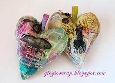 Scrap in Progress:  Fabric Hearts