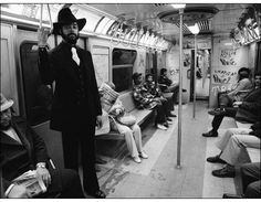 New York Knicks Clyde Frazier on NYC Train