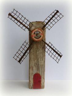 Windmill: wood, thread spool Kirsty Elson