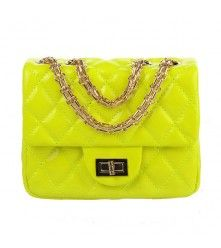 Fluorescence Color Quilted Bag