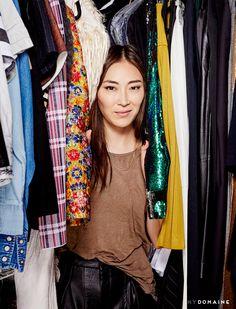 Jayne Min in her closet